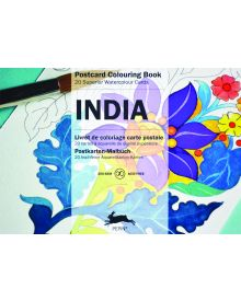 INDIA: PEPIN POSTCARD COLOURING BOOK