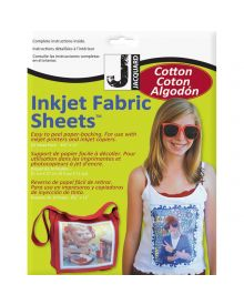Jacquard Inkjet Fabric 8.5'' x 11'' Cotton Sheets (10 Pack)