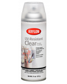 Krylon Matte UV Resistant Clear Acrylic Coating, 11 oz