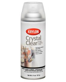 Krylon Crystal Clear Acrylic Coating Aerosol Spray, 11 oz