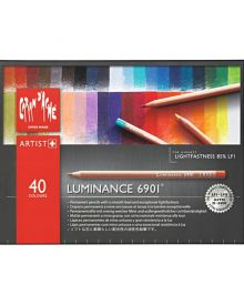 Caran d'Ache Luminance 6901 Pencil Set-40 Colours