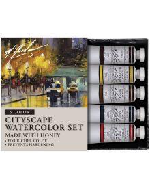 M Graham 5 Colour Cityscape Watercolour Set 15ml