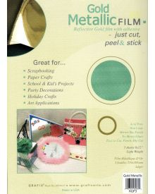 Grafix Metallic Film Gold, 9X12 inches 3/Pkg