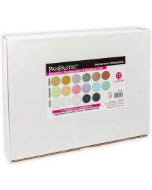 Pan Pastel Metallics, Pearlescents & Mediums Set w/Sofft Tools & Palette Tray