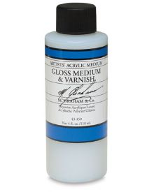 M Graham Artists' Acrylic Gloss Medium & Varnish - 4 oz
