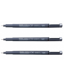 Microperm Permanent Ultra Fine Line Individual Pens