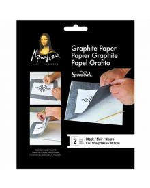 Mona Lisa Graphite Paper Black- 2 Sheets, 9 x 12 inches