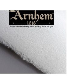 Arnhem 1618 Printmaking 100% Rag Paper 5-Packs, White 320