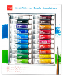 Savoir Faire Opaque Watercolour Gouache Set of 20