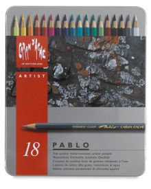 Caran d'Ache Pablo Coloured Pencil Metal Box Set of 18