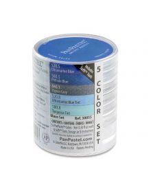 Pan Pastel 5 Blue Colour Set