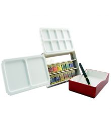 Holbein Watercolour Half Pan - Palm Box Set of 12