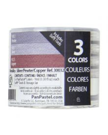 Pan Pastel Set of 3 Metalic - Silver/Copper
