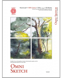 "Omni Sketch Book - 11"" x 14"", 70lb, 50 sheets"