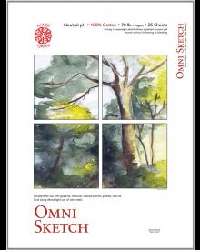 """Omni Sketch Book, 70lb, 50/Sht - 14"""" x 17"""""""