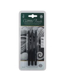 Pentalic Woodless Charcoal Pencils 3 Piece Set