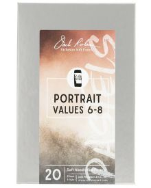 Richeson Hand Rolled Soft Pastel Portrait Values 6-8, 20 Piece Set