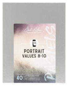 Richeson Hand Rolled Soft Pastel Portrait Values 8-10, 40 Piece Set