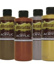 Pro Art Acrylic Metallic Paint 8-oz. Bottle