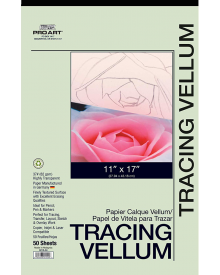 "Pro Art Tracing Vellum 50 Sheet Pad 11"" x 17"" 37 lb."