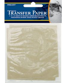 "Pro Art White 9"" x 13"" Transfer Paper 4 Sheet Pack"