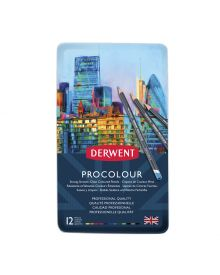 Derwent Procolour 12 Pencils Tin Set