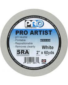Pro Artist Paper Tape White 2 Inch X 60 Yards