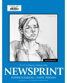 Jack Richeson Rough Newsprint Pad 9x12-inch 100 Sheets