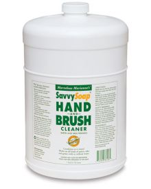 Savvy Hand & Brush Soap 1 Gallon, Plastic Pump Included
