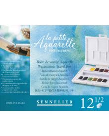 Sennelier La Petite Aquarelle Travel Box 12 Half Pans