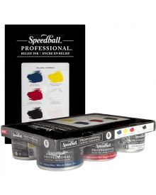 Speedball Professional Relief Ink 236.5ml (8oz) Set Of 6