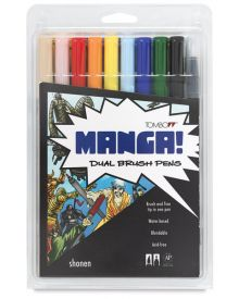 Tombow Dual Brush Set - 10 Shonen (Boy) Colours