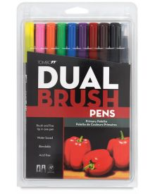 Tombow Dual Brush Set - 10 Primary Palette