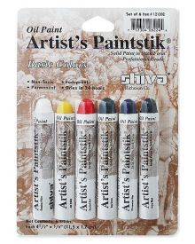 Shiva Artist's Oil Paintstik - Basic Colour Set of 6