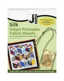 Jacquard Inkjet Silk Fabric 8.5'' x 11'' - Silk Habotai Sheets (10 pack)