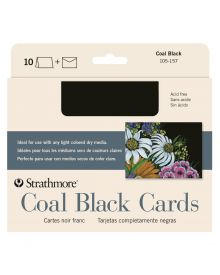 "Artagain Blank Greeting Cards, Coal Black 10 Pack - 5"" x 7 """