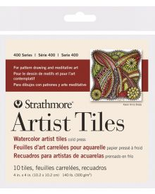 Strathmore 400 Series Watercolour Artist Tiles, Cold Press – 10/Sht. 4″ x 4″