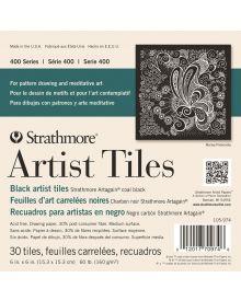 Strathmore 400 Series Artist Tiles, Black Artagain – 30/Sht. 6″ x 6″