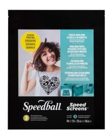 Speedball Speed Screens Photo Emulsion Stencils, 3 Sheet Pack