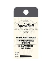 Speedball Fountain Pen Ink Cartridges – Black
