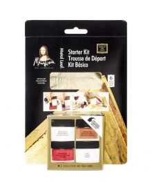 Mona Lisa Gold Metal Leaf Starter Kit Set