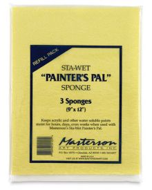 Masterson Sta-Wet Painter's Pal Sponge Refill - 9 x 12 inches, 3pk
