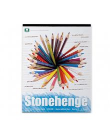 Stonehenge White Colour 100% Coton (15 Sheets) Pad - (250 gm) 9 x 12 inches