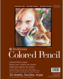 Strathmore 400 Series Coloured Pencil Pads–9x12in