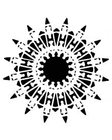 The Crafters Workshop Stencil - Native Star 6 x 6 inch