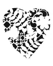 The Crafters Workshop Stencil - Heart Fern 6 x 6 inch