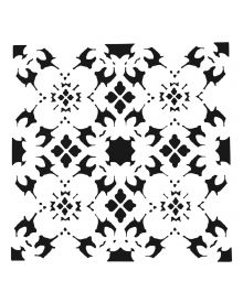 The Crafters Workshop Stencil - Poppy Grid 6 x 6 inch