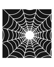 The Crafters Workshop Stencil - Spider's Web 6 x 6 inch