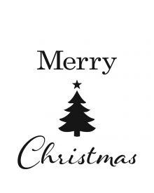 The Crafters Workshop Stencil - Merry Tree 6 x 6 inch