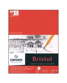 "Canson Bristol Vellum 100 lb (Fold Over) Pad, 9"" x 12"""
